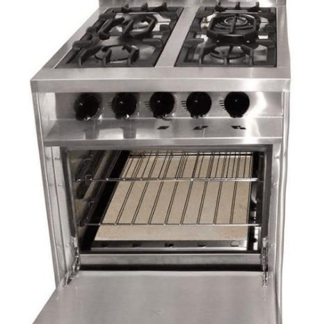 Cocina industrial kokken 60 62 cm con puerta parrilla y for Parrilla cocina industrial