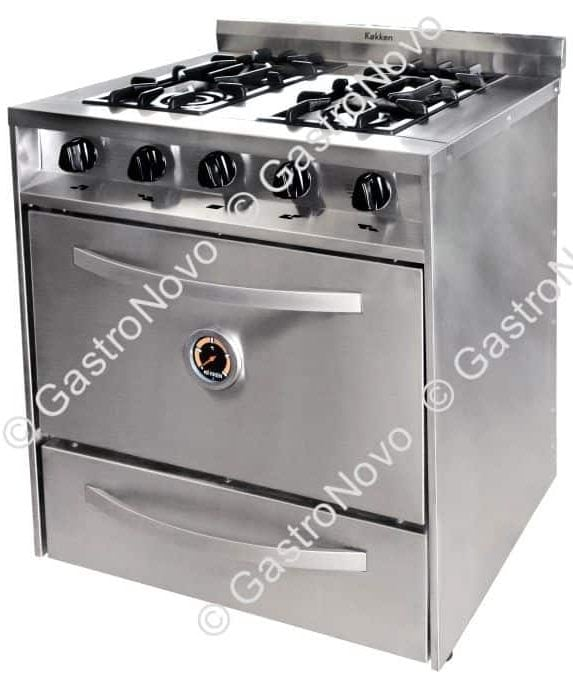 Cocina industrial kokken 76 62 cm con puerta parrilla y for Parrilla cocina industrial
